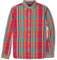 Beams Plus Madras-Check Cotton Shirt