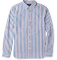 Beams Plus - Striped Cotton-Seersucker Shirt