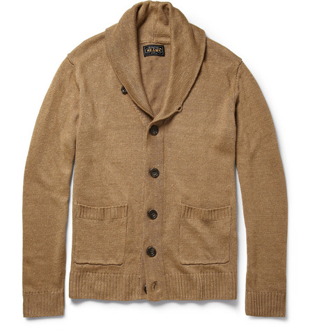 Beams Plus Shawl-Collar Linen Cardigan