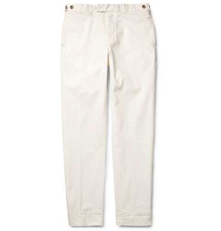 Beams Plus Cropped Straight-Leg Cotton-Blend Chinos