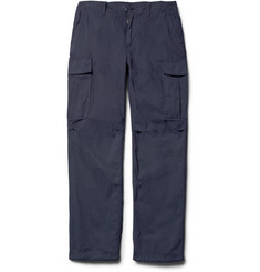 Beams Plus Straight-Leg Cotton-Blend Cargo Trousers