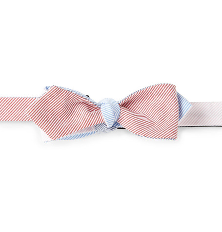 Beams Plus Striped Cotton Bow Tie