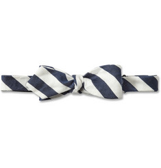 Beams Plus Striped Linen and Silk-Blend Bow Tie