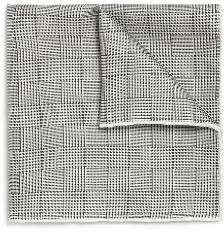 Beams Plus Prince of Wales Check Silk Pocket Square