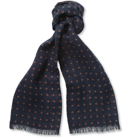 Beams Plus Printed Linen Scarf