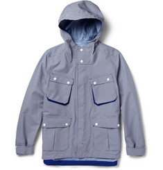 White Mountaineering Gingham-Check Waterproof Hooded Jacket