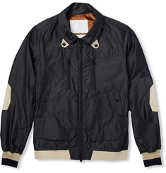 White Mountaineering Cotton-Blend Chambray Bomber Jacket
