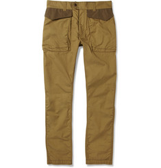 White Mountaineering Cotton-Blend Gabardine Cargo Trousers