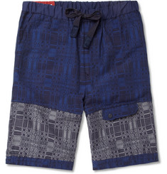 White Mountaineering Cotton-Blend Jacquard Shorts