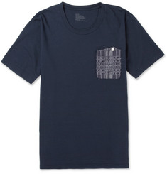 White Mountaineering Jacquard-Trimmed Cotton-Jersey T-Shirt