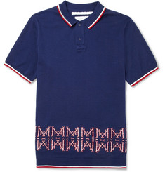 White Mountaineering Knitted Cotton Polo Shirt