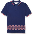 White Mountaineering - Knitted Cotton Polo Shirt