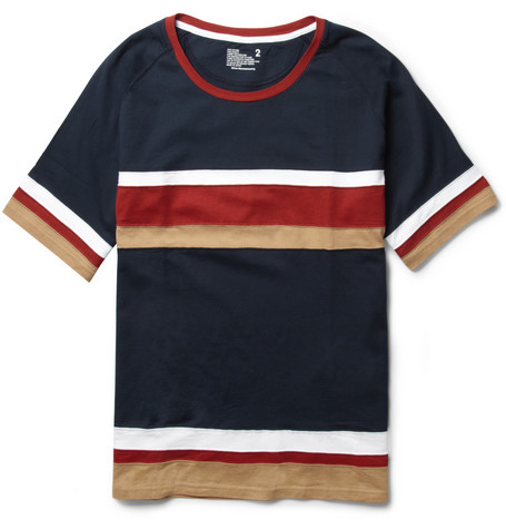 White Mountaineering Striped Cotton-Jersey T-Shirt