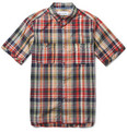 White Mountaineering - Short-Sleeved Madras-Check Cotton Shirt