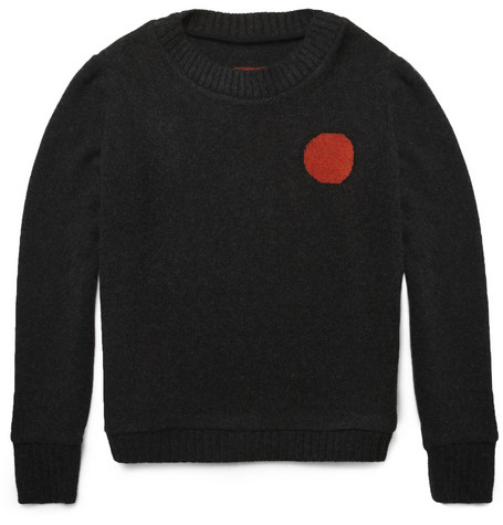 The Elder Statesman Sun and Moon Intarsia Cashmere Sweater