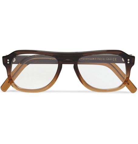Cutler and Gross Square-Frame Ombre Acetate Optical Glasses