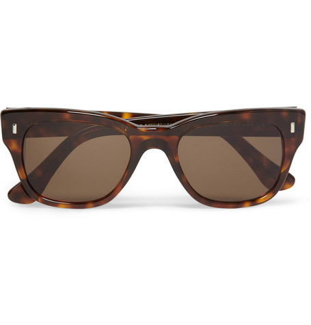 Cutler and Gross Square-Frame Tortoiseshell Sunglasses