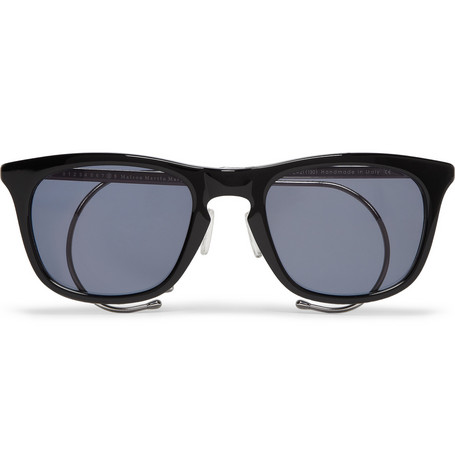 Maison Martin Margiela Square-Frame Acetate and Metal Sunglasses