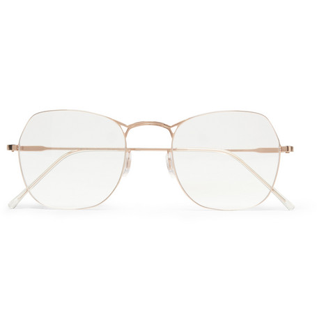 Maison Martin Margiela Square-Framed Metal Optical Glasses