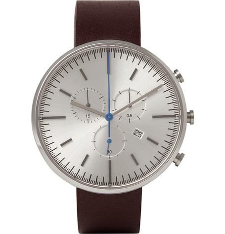Uniform Wares 302 Series Chronograph Brushed-Steel Wristwatch