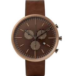 Uniform Wares 302 Series Chronograph PVD Rose Gold Wristwatch