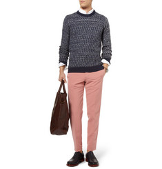 S.N.S. Herning Emergent Basket-Weave Cotton and Merino Wool-Blend Sweater