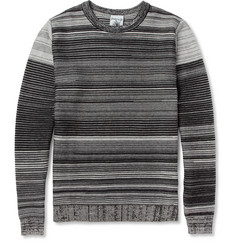S.N.S. Herning Links Ribbed-Knit Cotton and Merino Wool-Blend Sweater