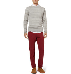 S.N.S. Herning Trope Pointelle-Knit Cotton and Wool-Blend Sweater