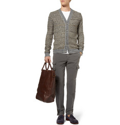 S.N.S. Herning Emergent Basket-Weave Cotton and Merino Wool-Blend Cardigan