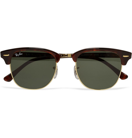 04aec8ad94 Ray-Ban - Clubmaster Acetate and Gold-Tone Sunglasses