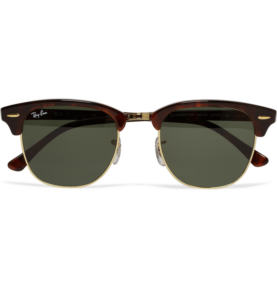 Clubmaster Acetate and Metal Sunglasses Tortoiseshell