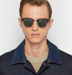 Ray-Ban Clubmaster Acetate and Metal Sunglasses