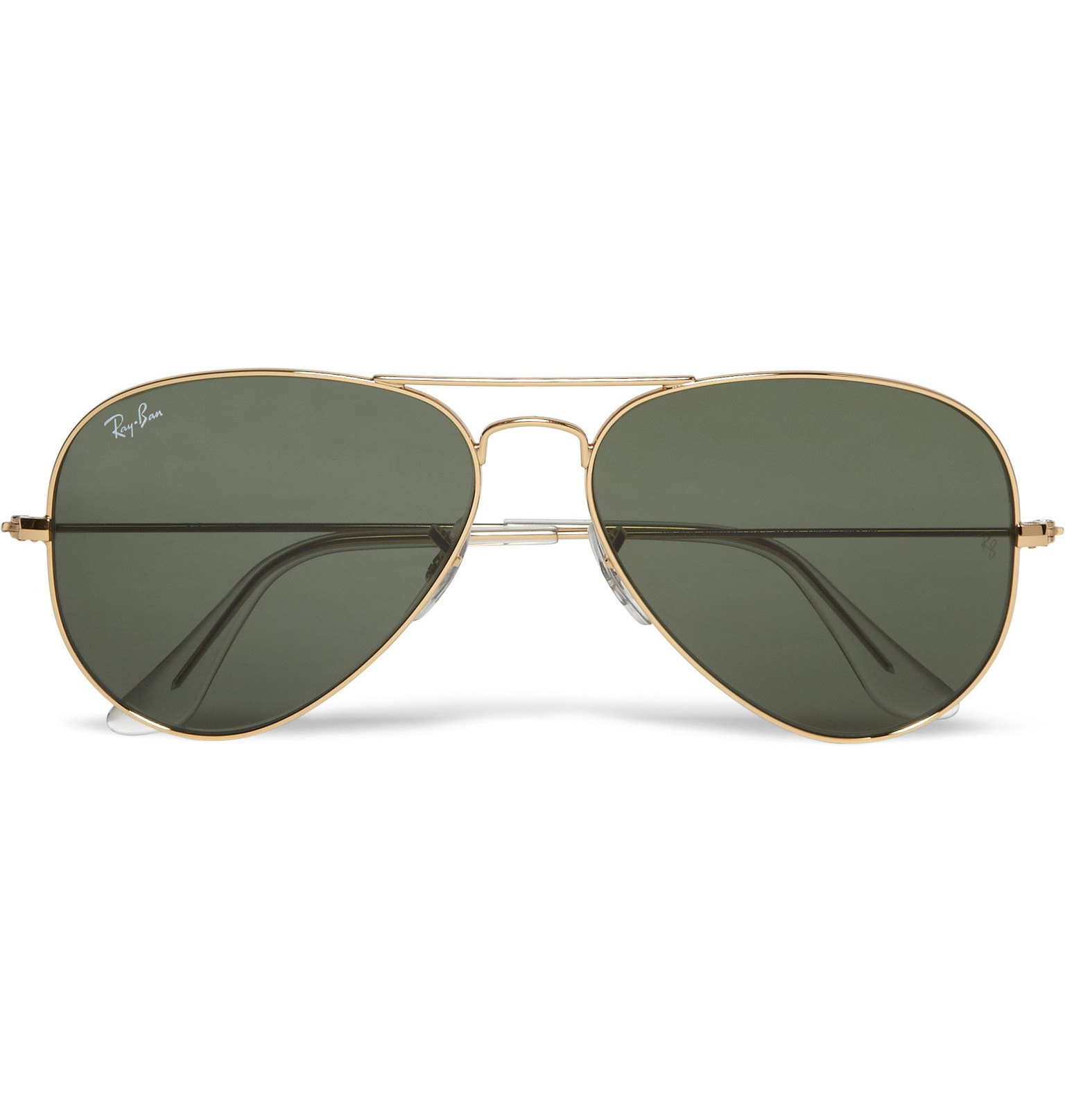 what is ray ban  Ray-Ban - Aviator Gold-Tone Sunglasses