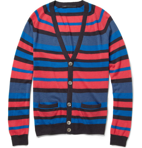 Marc by Marc Jacobs Jerry Striped Cashmere Cardigan