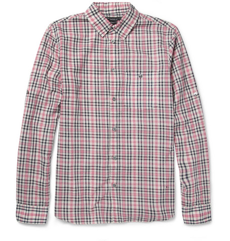 Dustin Lightweight Plaid Cotton-Blend Shirt