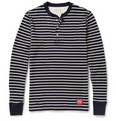 Neighborhood - Striped Waffle-Knit Cotton Henley T-Shirt