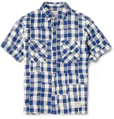 Neighborhood Patchwork Check Cotton Oxford Shirt