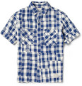 Neighborhood - Patchwork Check Cotton Oxford Shirt