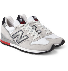 New Balance 996 Nubuck and Mesh Sneakers