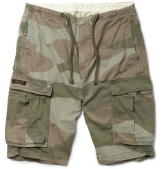Neighborhood Camouflage-Print Cotton Cargo Shorts