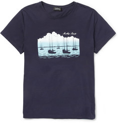 A.P.C. Mouillage Interdit Printed Cotton-Jersey T-Shirt