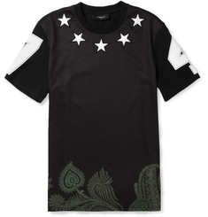 Givenchy Star-Embellished Printed Cotton T-Shirt