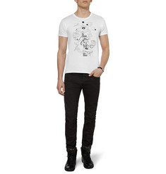 Saint Laurent Grimes Printed Cotton-Jersey T-Shirt