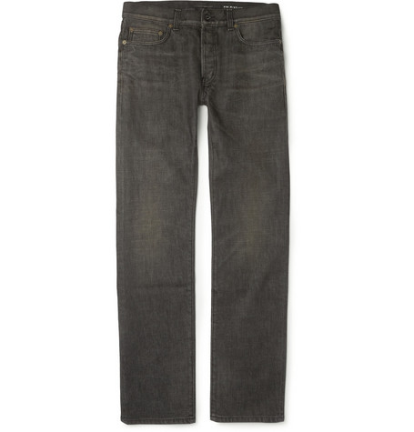 Saint Laurent Regular-Fit Washed 19cm Hem Denim Jeans