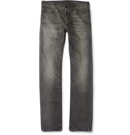 Saint Laurent Straight-Fit Washed 19cm Hem Denim Jeans