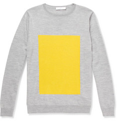 London Collections. Men Richard Nicoll Merino Wool Crew Neck Sweater