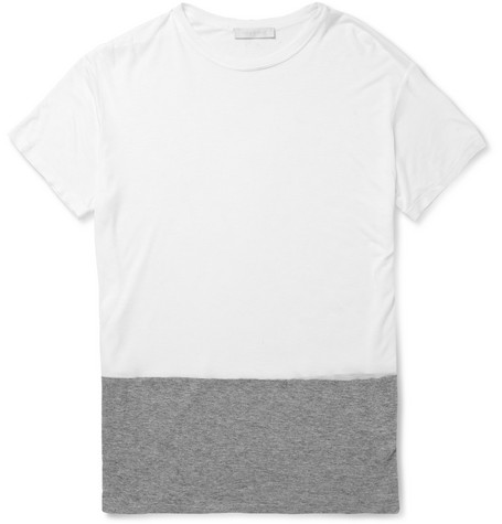 Richard Nicoll Richard Nicoll Panelled Cotton-Jersey T-Shirt