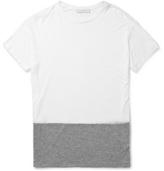London Collections. Men Richard Nicoll Panelled Cotton-Jersey T-Shirt