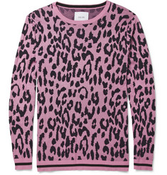 London Collections. Men Sibling Leopard-Patterned Cotton-Blend Sweater