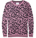 Sibling - Sibling Leopard-Patterned Cotton-Blend Sweater